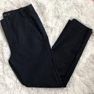 Zara Basic Navy Blue Women's Ankle Pants
